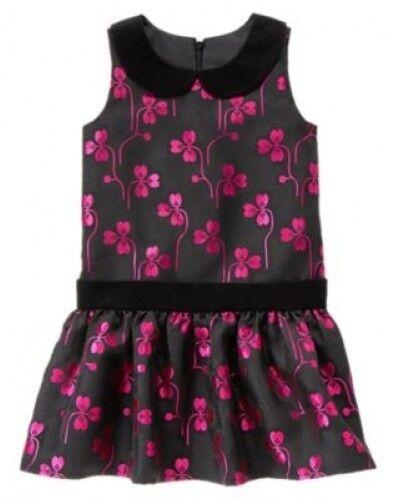 NWT Gymboree Holiday Gems Floral Jacquard Dress Size 5 6