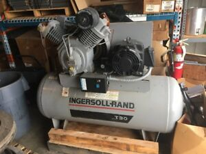 Details about INGERSOLL RAND T30 Electric Air Compressor,2 Stage,15 HP,  7100E15