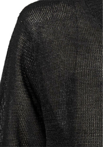 Ladies Jumper Sweater Tunic Textured Silky Knitted Dipped Hem Long Line