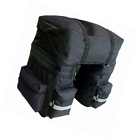 Heavy Duty Black Large Water Resistant Bicycle Cycle Pannier Bag with rain cover