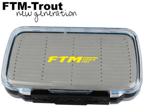 Kunstköderbox für Forellenspoon Angelbox für Blinker FTM Spoonbox 19x12,2x4cm