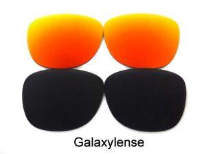 Galaxie-rechange-lentilles-pour-Ray-Ban-RB3016-CLUBMASTER-noir-Rouge-51mm