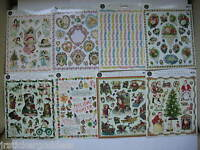 Lot Of Stickers 8 Gifted Line Christmas Angels Victorian Birthday Hearts Flowers