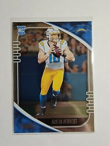Justin Herbert 2020 Panini Absolute #167 Rookie Card Los Angeles Chargers
