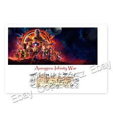 Avengers: Infinity War mit über 20 Unterschriften - Autogrammkarte laminiert