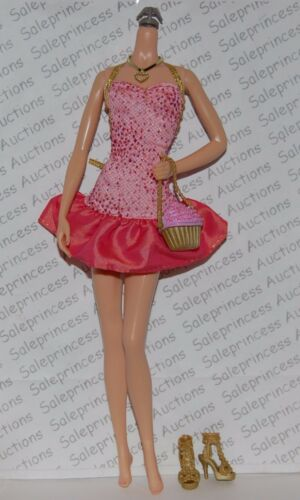 New 2009 Barbie Fashionistas Sweetie Wave 2 Doll Complete Outfit Shoes Loose