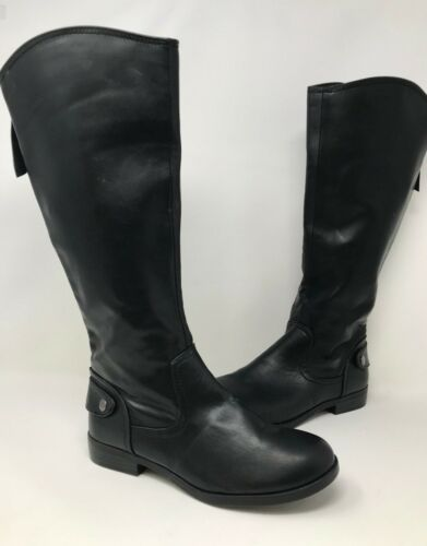 Black S37 New Women/'s Bongo Trifecta 20298 Knee High Boot - WIDE