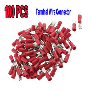 100P-Female-Spade-Crimp-Terminal-Ends-Wire-Cable-Connector-FDD1-25-110-Insulated
