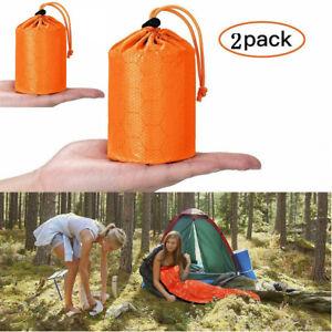 2-Pack-Emergency-Sleeping-Bag-Thermal-Waterproof-Outdoor-Survival-Camping-Bag-US
