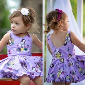 Toddler-Kids-Baby-Girl-Cotton-Cartoon-Princess-Sleeveless-Dress-Clothes-Summer
