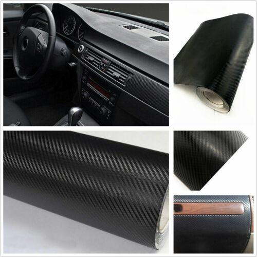 4D Car Interior Accessories Interior Panel Black Carbon Fiber Vinyl Wrap Sticker