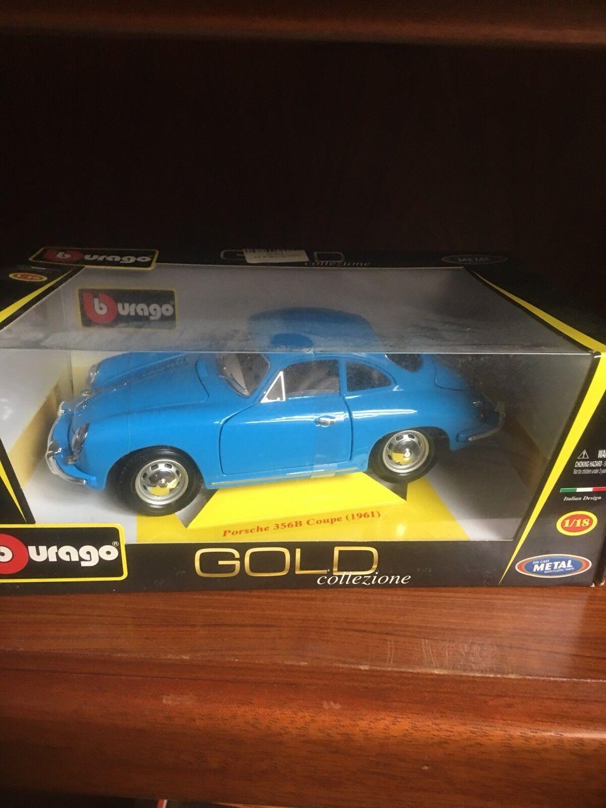 Porsche 356B 356B 356B Coupe 1961 Burago gold Collezione Italian Design 1 18 16158a