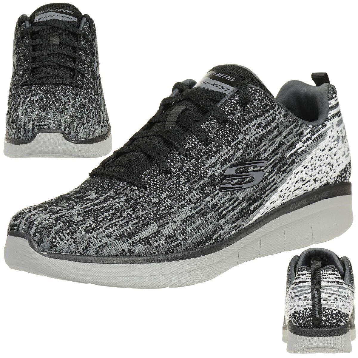 Skechers Synergy 2.0 Herren Sneaker Fitness Schuhe lite Memory Foam BKCC