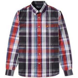 282d2bed72 Fred Perry Men s Bold Check Long Sleeve Shirt - M8265-100