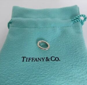 d3d6d9b15fc2a Details about NEW! Tiffany & Co. Silver Oval Jump Spring Ring Clasp Italy 4  Bracelet Necklace