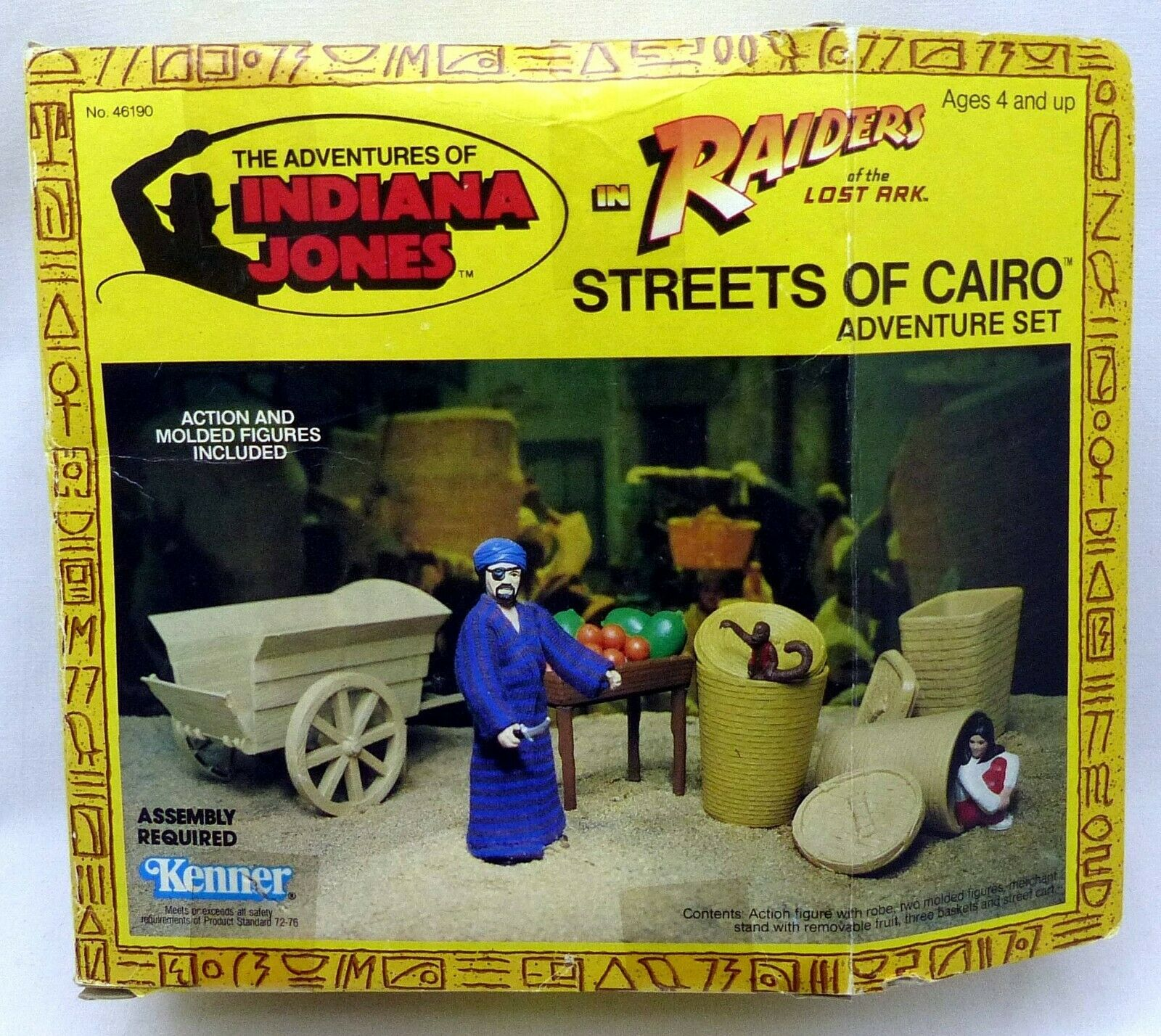 1982 UNOPENED INDIANA JONES RAIDERS LOST ARK STREETS OF CAIRO ADVENTURE SET