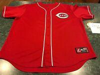 Majestic Cincinnati Reds JAY BRUCE #32 SEWN Baseball Jersey Adult Size 2XL