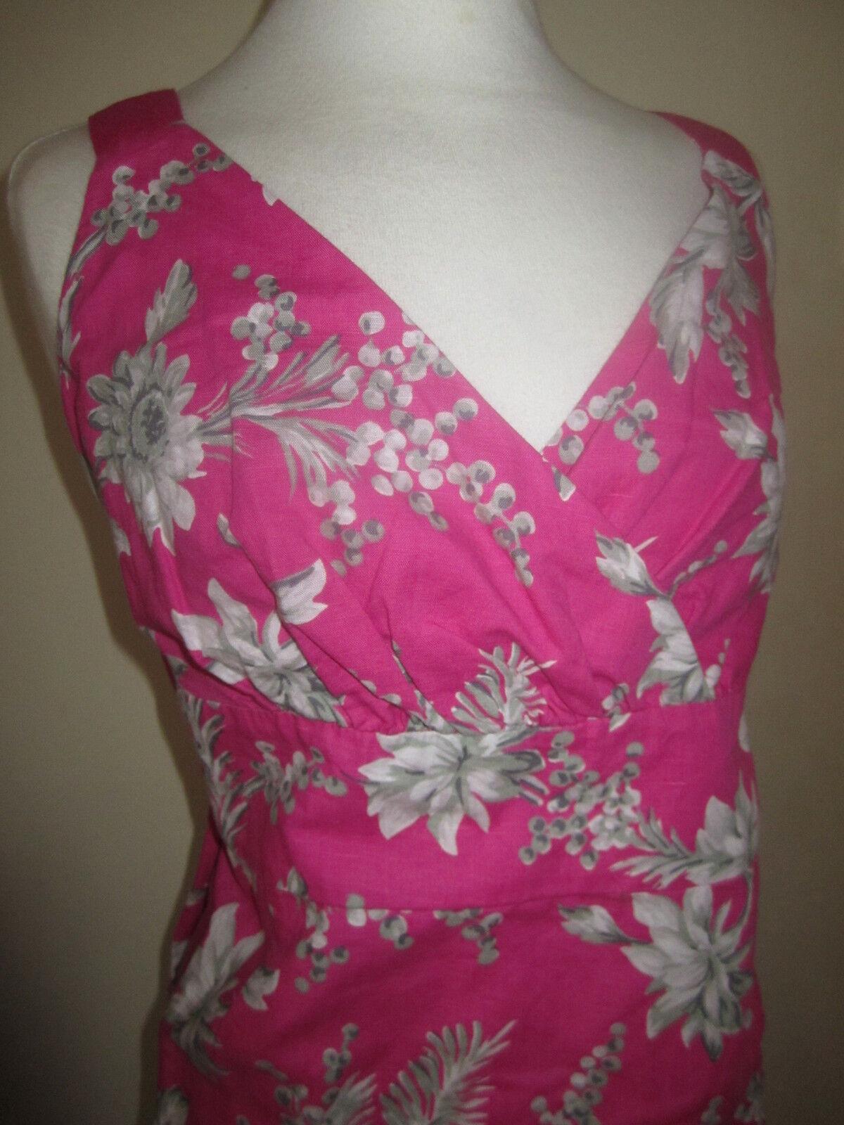 JOULES NEW Linen Mix Elette Floral Floral Floral Dress Sz 8  Free UK P&P | Langfristiger Ruf  909af0