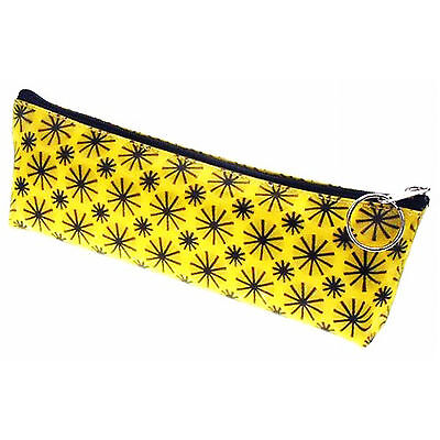 Pencil Case Animation Lenticular Spinning Black Wheels on Yellow #Sobre-008Y#