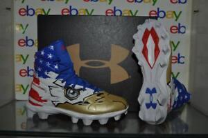 70c20962dbc0 Under Armour Football Cleats Highlight RM JR LE Boy's 300196 002 USA ...