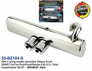 exhaust performance muffler for smart fortwo 450 0 6l 0 7l. Black Bedroom Furniture Sets. Home Design Ideas