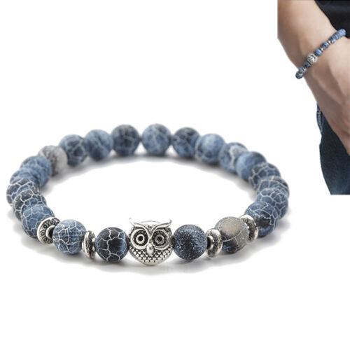 Hommes Chakra Lava Spone Lion Beaded Cuff Charme Bracelet Diffuseur Bracelet SP
