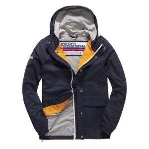 91636caf4 Details about Superdry Mens New York Harbour Coat Jacket Navy Blue Ship  internationally