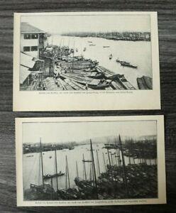 AN-2x-Blatt-1907-Flut-Katastrophe-Hankau-Wuhan-China-Unglueck-Jangtsekiang-Hafen