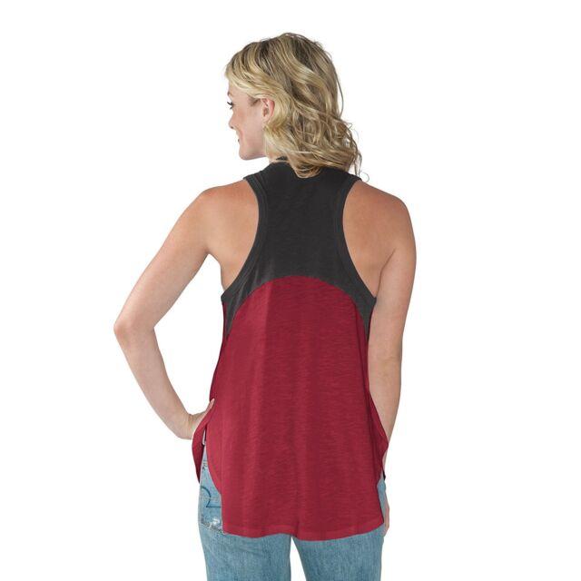 GIII For Her NCAA Oklahoma Sooners Women/'s Power Play Color Block Tank Top S...