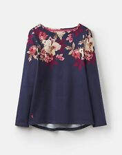 Joules 207171 Long Sleeved Printed Jersey Top Shirt in NAVY BIRCHAM BORDER