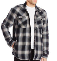 Mens Metal Mulisha Sons Of Anarchy Soa Patched Thick Flannel Jacket Sherpa Lined