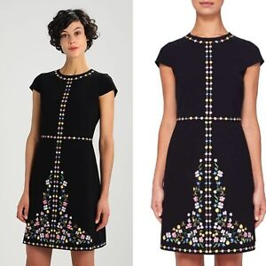 651fafa9a Image is loading Ted-Baker-London-JEORJIA-Hampton-Court-embroidered-shift-