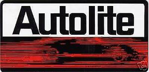 AUTOLITE 5 x 8 INCH FORD DEALERSHIP GT40 GT-40 BATTERY LOGO DECAL STICKER  NEW