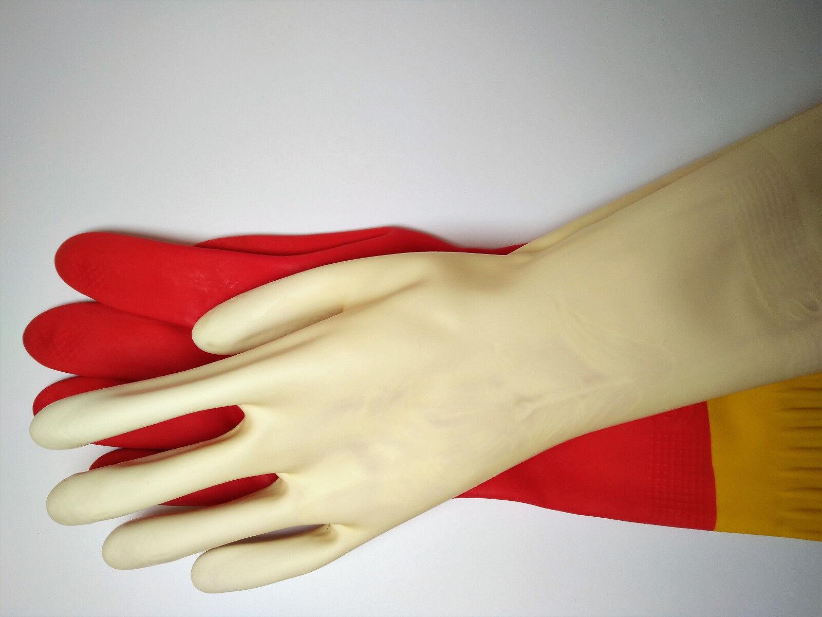 Haushaltshandschuhe 45cm lang Gummihandschuhe extra lang long rubber gloves #04