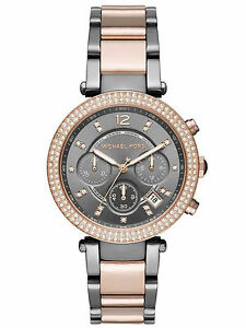 Michael kors mk6440 ladies parker two tone stainless steel image is loading michael kors mk6440 ladies parker two tone stainless gumiabroncs Choice Image