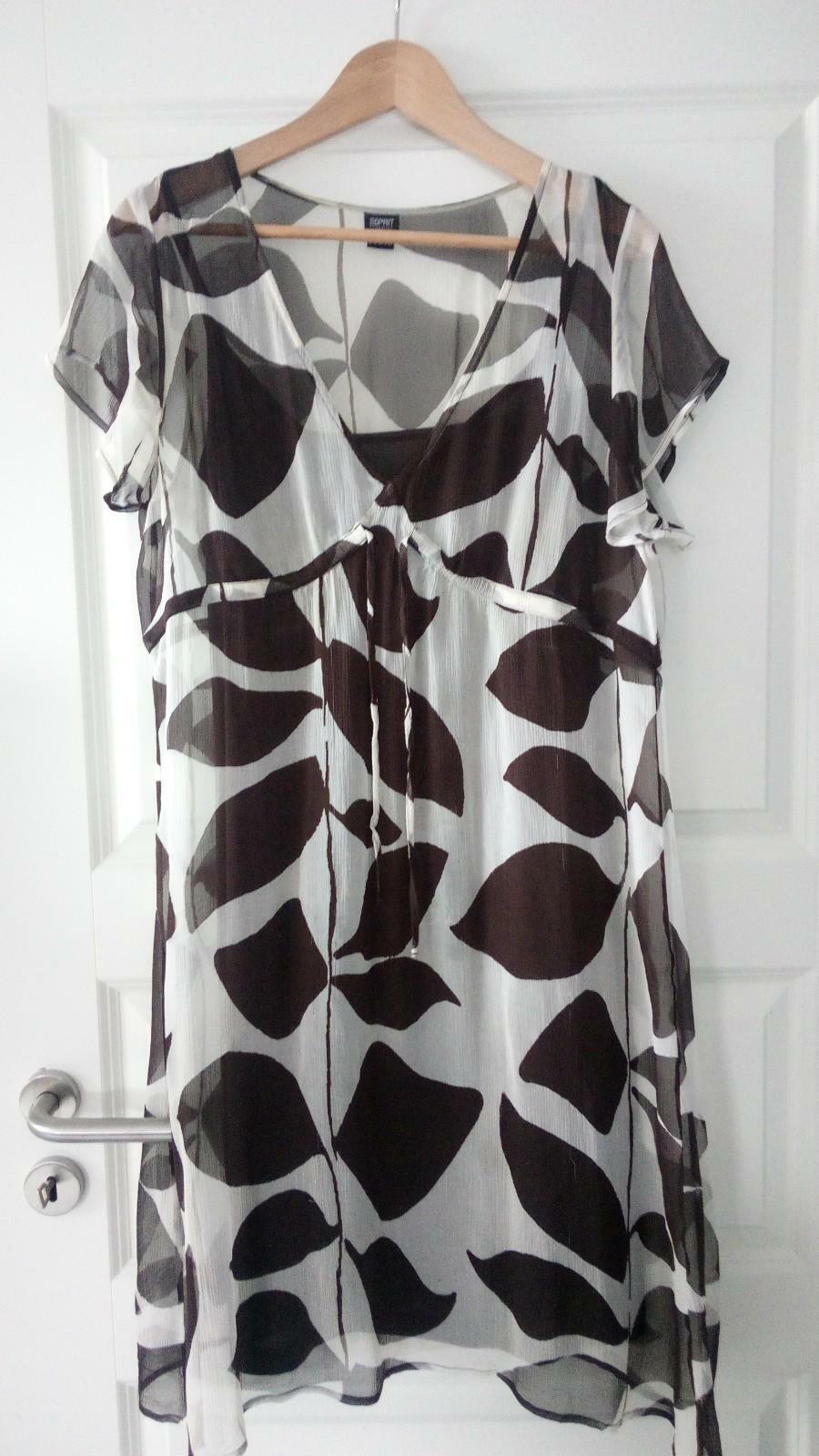 Espritzartes Seidenkleid mit braunen Trägerkleid Größe 42   XL XL XL | Bestellungen Sind Willkommen  | Umweltfreundlich  | Billig ideal  036bf4