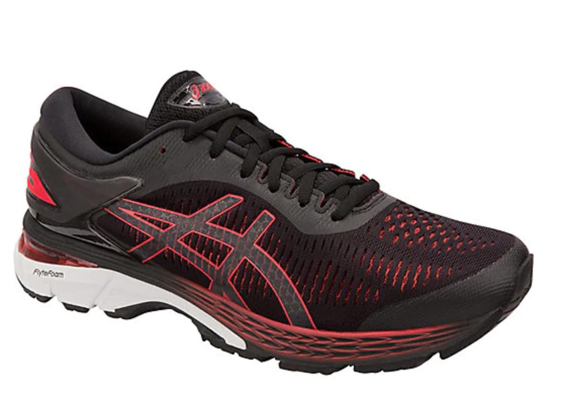 123d9ec27bb Details about ASICS Men's Gel Kayano 25 2E BLACK RED Running Marathon Shoes  1011A029.004