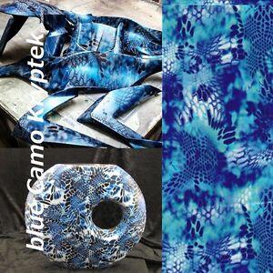 "BlueCamo Kryptek Hydrographics Dipping Film Water Transfer Printing 19x39""PVA"