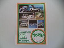 advertising Pubblicità 1982 TOTIP e FIAT 131 ABARTH RALLY
