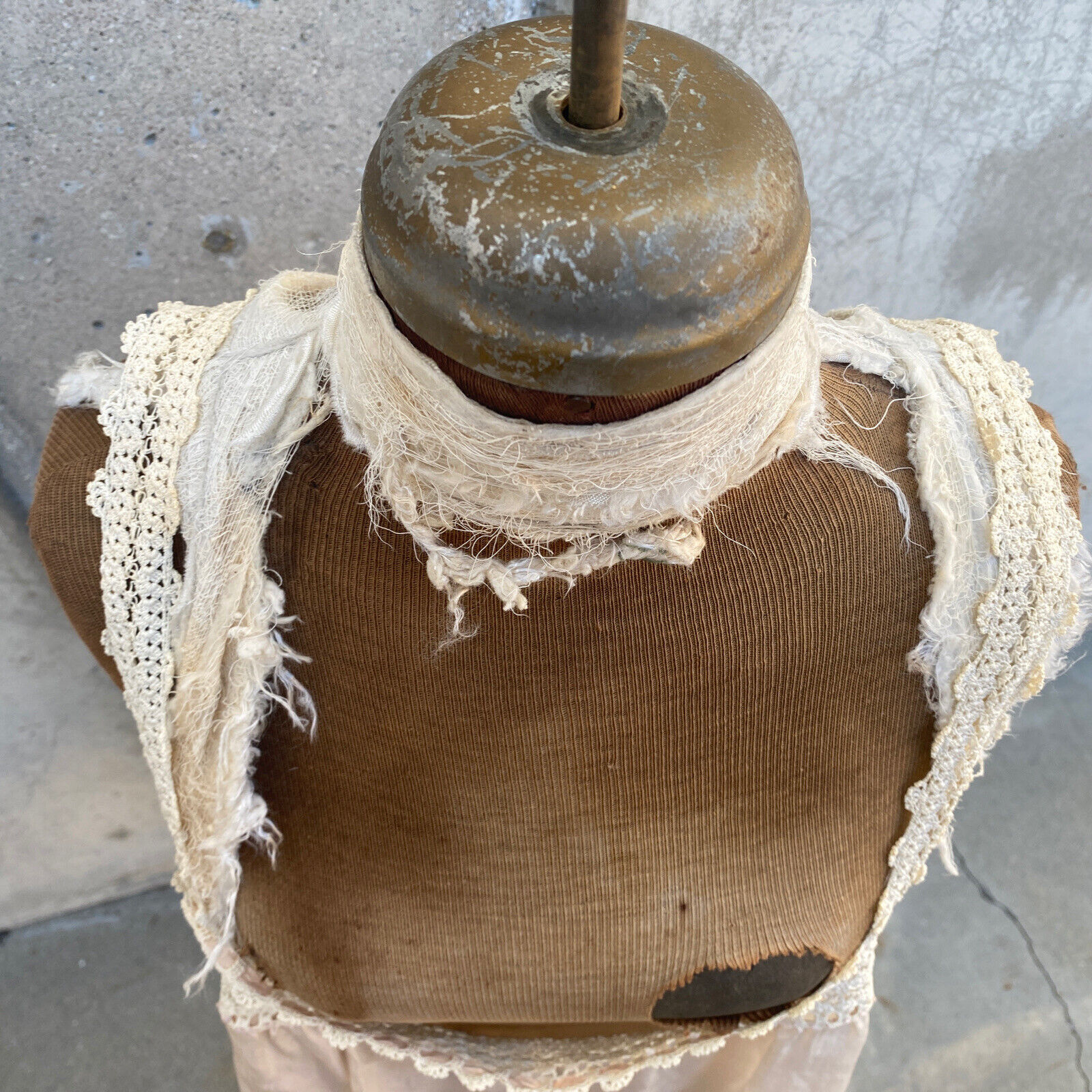Antique Edwardian Pink Silk Blouse Corset Cover R… - image 12