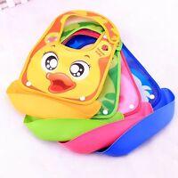 New Infant Boy Girl Kid Animal Waterproof Baby Bibs Catch-All Folding Bibs Apron