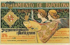 Ap05 Vintage Ayuntamiento De Barcelona Spanish Advertisement Poster A1 A2 A3 A4 Ebay