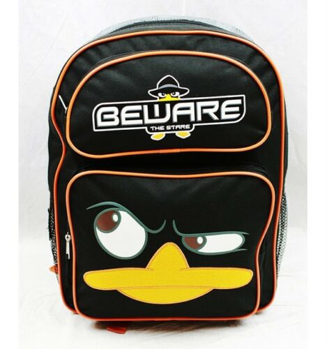 """NWT Disney Phineas and Ferb Agent P 16/"""" Large Backpack Bag Licensed by Disney"""