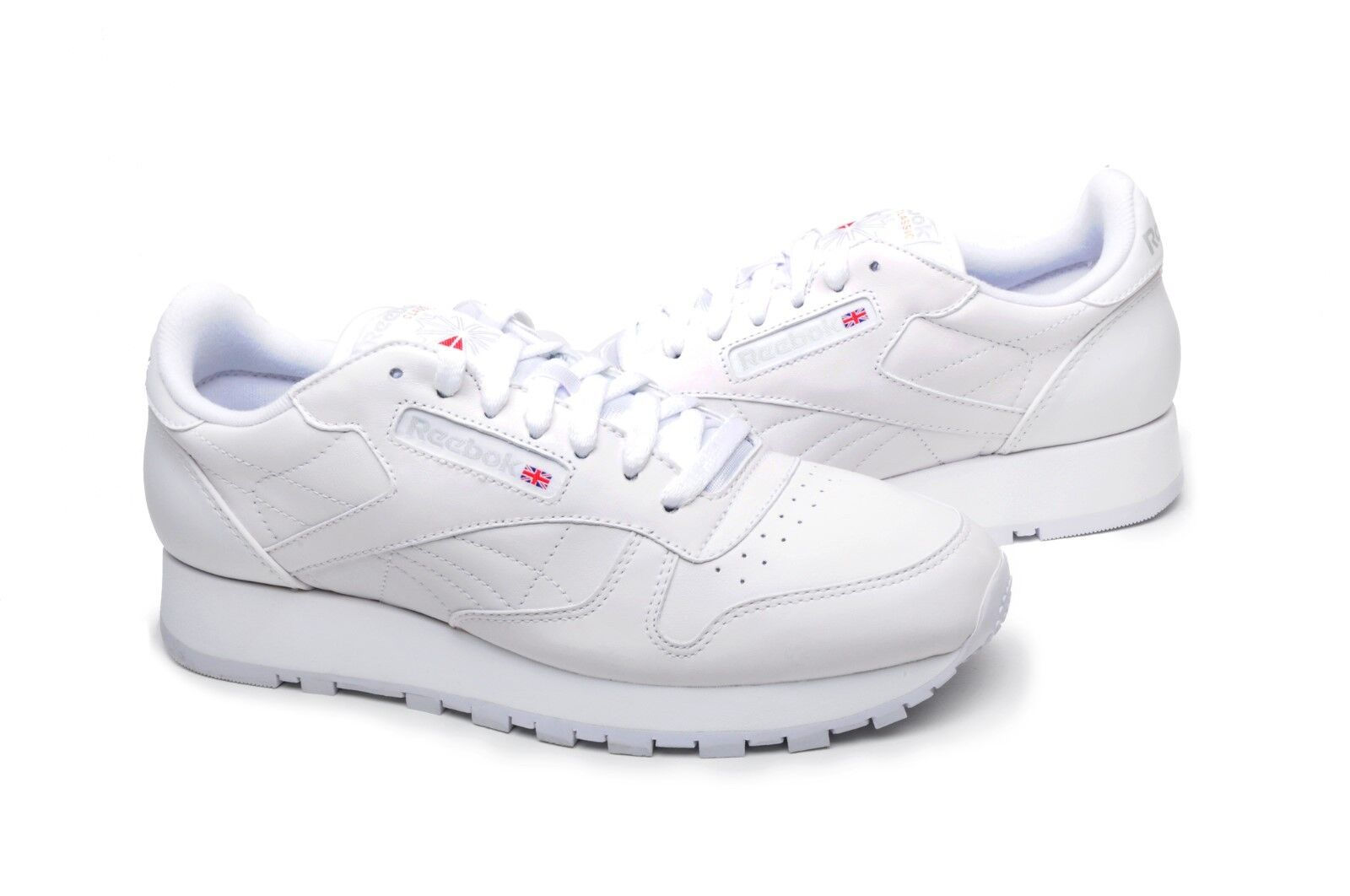 Reebok Homme Chaussures Classic Leather 9771 Blanc