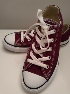 f675b94cee5fa3 Image is loading Converse-All-Star-Low-Youth-339794F-Burgundy-Kids-