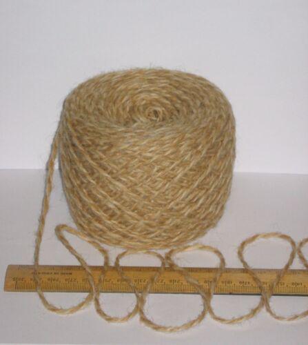 100g Light Brown /& Cream Marl 100/% Pure Wool British double knitting dk EFW 506