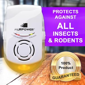 Murpower ® puissant indoor plug-in répulsif avec lumière nuit araignée rongeur-afficher le titre d`origine kdaFu4Dq-07204749-648589583