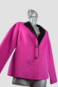 L Uld Mohair Bright Escada M Sz Jacket Kvinder Cover Blazer Fuchsia 40 Casual qIXIx7pH