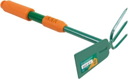 1* Gartenhacke  DoPPelhaCKE Blumenkralle Garten-Werkzeug mit Softgriff