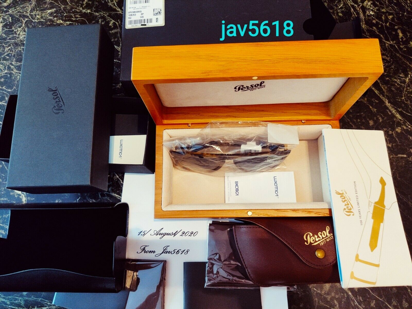 PERSOL SUNGLASSES 9649SG SOLID GOLD 18ktLIMITED 200 RARESTMASTERPIECE, NEW**